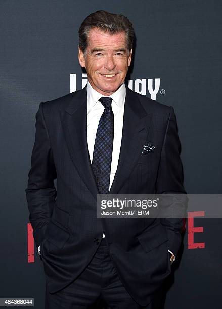 Actor Pierce Brosnan attends the premiere of the Weinstein Company's 'No Escape' at Regal Cinemas LA Live on August 17 2015 in Los Angeles California