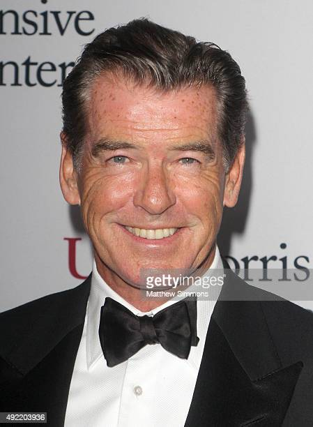 Actor Pierce Brosnan attends the USC Norris Cancer Center Gala at the Beverly Wilshire Four Seasons Hotel on October 10 2015 in Beverly Hills...