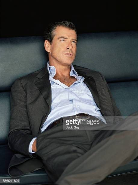 Actor Pierce Brosnan is photographed for Los Angeles Confidential in 2004 in Los Angeles California