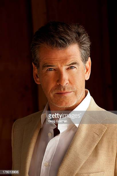 Actor Pierce Brosnan is photographed for Self Assignment in 2009 in Los Angeles California