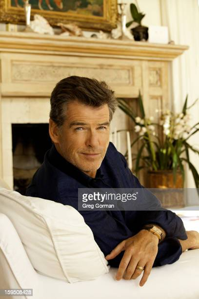 Actor Pierce Brosnan is photographed for Spec in 2009 in Los Angeles California