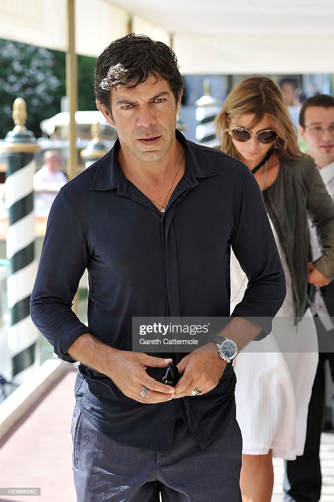 Actor Pierfrancesco Favino arrives at the Excelsior Hotel during the 69th Venice International Film Festival on August 28, 2012 in Venice, Italy.