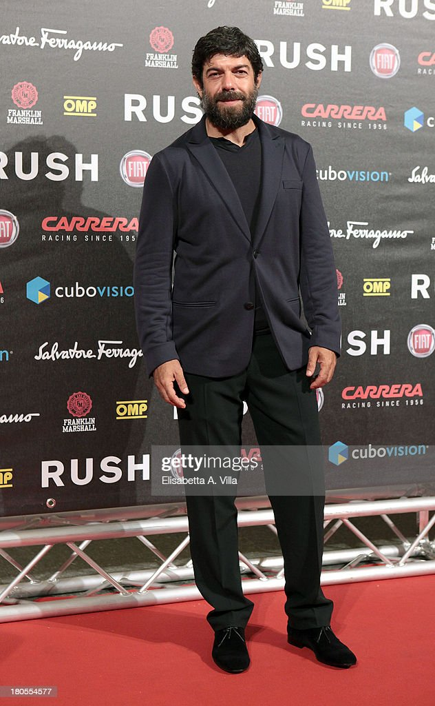 Actor <a gi-track='captionPersonalityLinkClicked' href=/galleries/search?phrase=Pierfrancesco+Favino&family=editorial&specificpeople=676710 ng-click='$event.stopPropagation()'>Pierfrancesco Favino</a> attends the 'Rush' premiere at Auditorium della Conciliazione on September 14, 2013 in Rome, Italy.