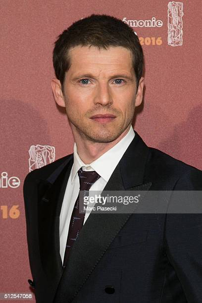 Actor Pierre Deladonchamps arrives to attend the 'Cesars Film Awards 2016' ceremony at Theatre du Chatelet on February 26 2016 in Paris France