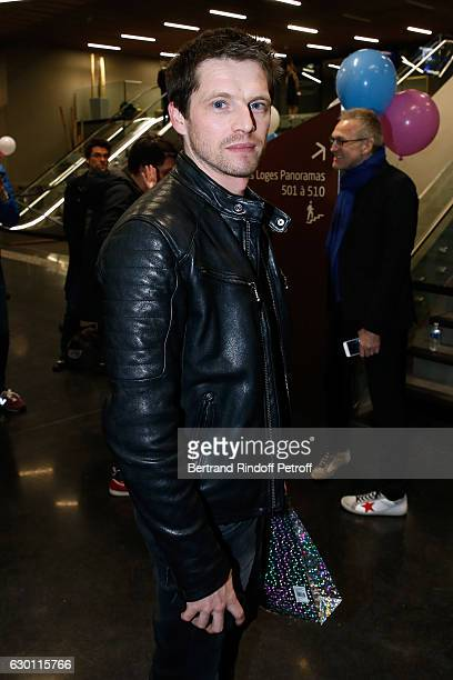 Actor Pierre Deladonchamps attends Michael Gregorio performs for his 10 years of Career at AccorHotels Arena on December 16 2016 in Paris France