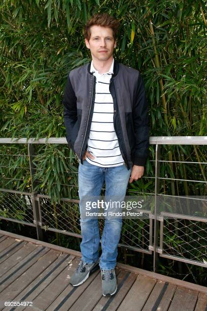 Actor Pierre Deladonchamps attends the 2017 French Tennis Open Day Height at Roland Garros on June 4 2017 in Paris France