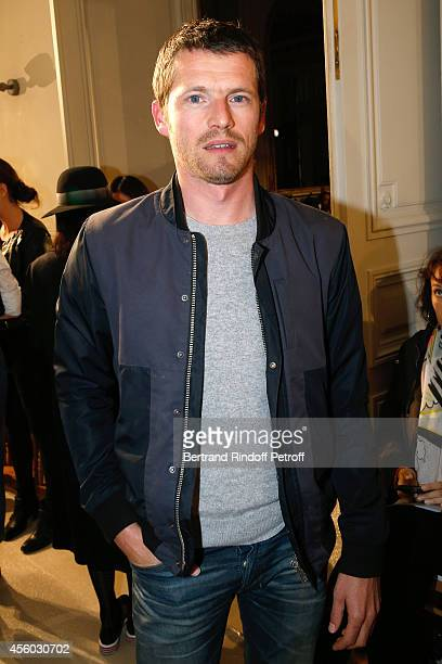 Actor Pierre Deladonchamps attends the Alexis Mabille show as part of the Paris Fashion Week Womenswear Spring/Summer 2015 on September 24 2014 in...