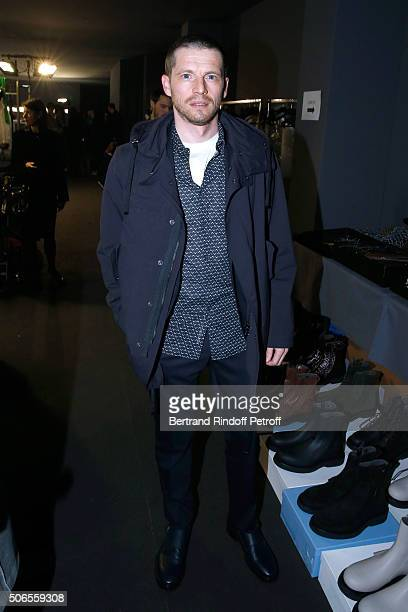 Actor Pierre Deladonchamps attends the Lanvin Menswear Fall/Winter 20162017 show as part of Paris Fashion Week on January 24 2016 in Paris France