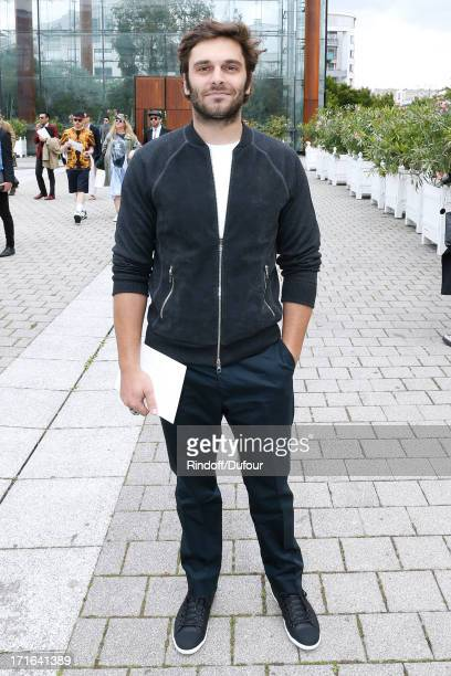 Actor Pio Marmai arriving at Louis Vuitton Menswear Spring/Summer 2014 Show As Part Of The Paris Fashion Week held at Andre Citroen Green House on...