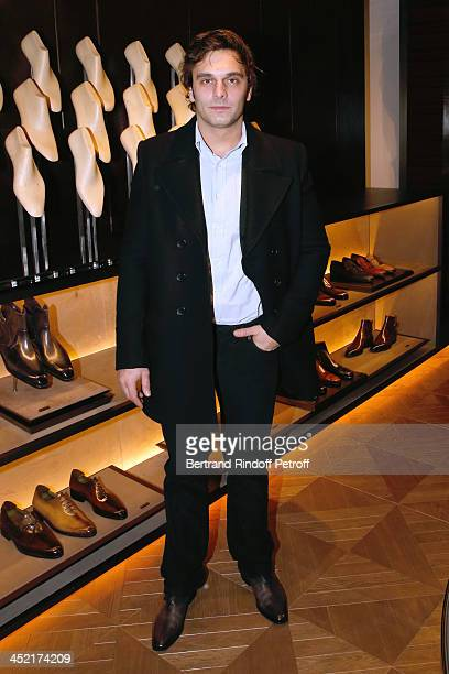 Actor Pio Marmai attends Berluti Flagship Store Opening on November 26 2013 in Paris France