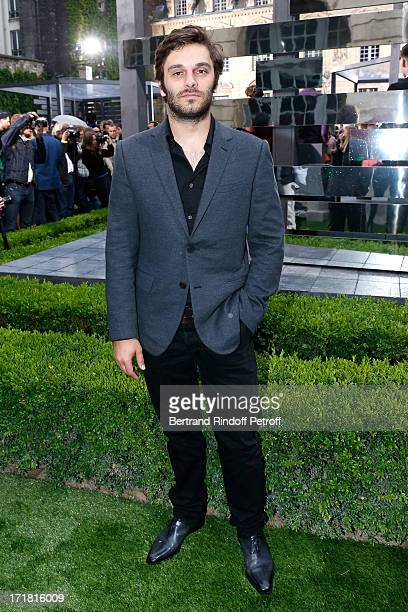 Actor Pio Marmai attends Berluti Menswear Spring/Summer 2014 Show As Part Of The Paris Fashion Week held at Sully hotel on June 28 2013 in Paris...