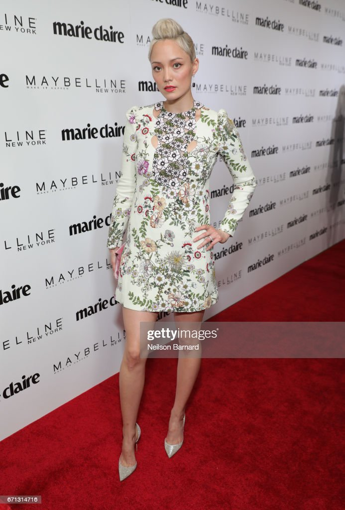 Actor Pom Klementieff attends Marie Claire's 'Fresh Faces' celebration with an event sponsored by Maybelline at Doheny Room on April 21, 2017 in West Hollywood, California.