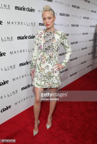 Actor Pom Klementieff attends Marie Claire's 'Fresh Faces' celebration with an event sponsored by Maybelline at Doheny Room on April 21 2017 in West...