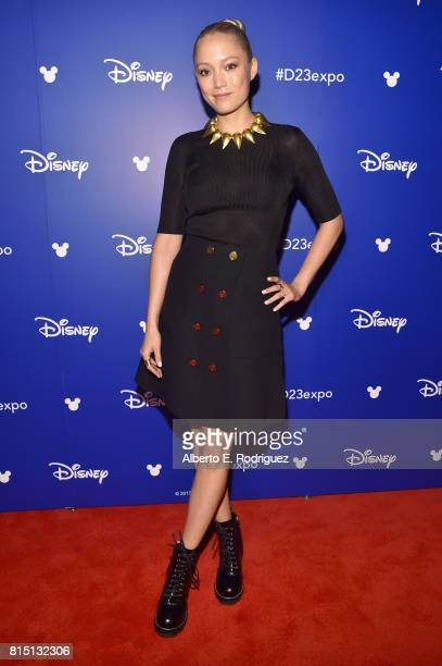 Actor Pom Klementieff of AVENGERS INFINITY WAR took part today in the Walt Disney Studios live action presentation at Disney's D23 EXPO 2017 in...