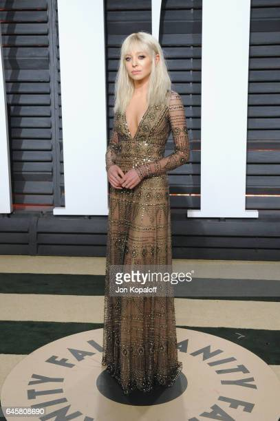 Actor Portia Doubleday attends the 2017 Vanity Fair Oscar Party hosted by Graydon Carter at Wallis Annenberg Center for the Performing Arts on...