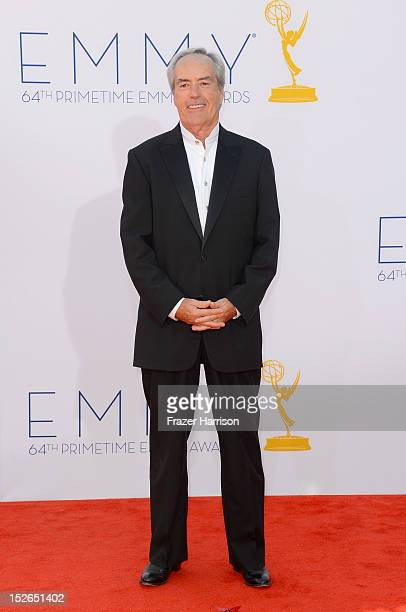 Actor Powers Boothe arrives at the 64th Annual Primetime Emmy Awards at Nokia Theatre LA Live on September 23 2012 in Los Angeles California