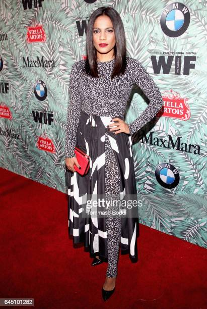 Actor Priyanka Bose wearing Max Mara attends the tenth annual Women in Film PreOscar Cocktail Party presented by Max Mara and BMW at Nightingale...