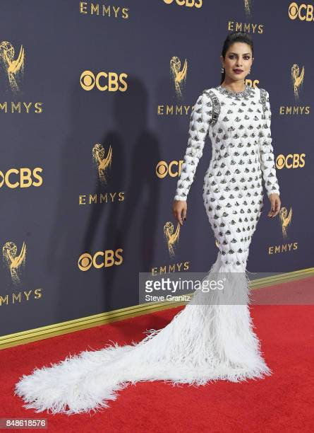 Actor Priyanka Chopra attends the 69th Annual Primetime Emmy Awards at Microsoft Theater on September 17 2017 in Los Angeles California