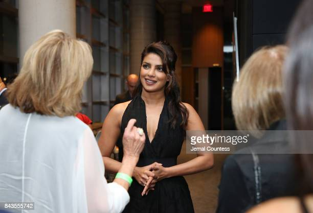 Actor Priyanka Chopra greets guest at the TIFF Bell Lightbox on September 6 2017 in Toronto Canada
