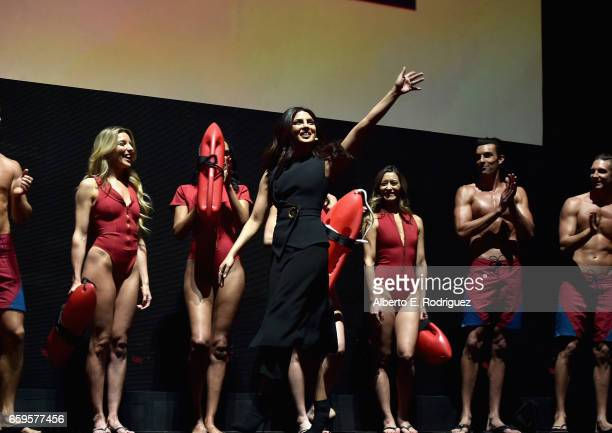 Actor Priyanka Chopra speaks onstage at CinemaCon 2017 Paramount Pictures Presentation Highlighting Its Summer of 2017 and Beyond at The Colosseum at...