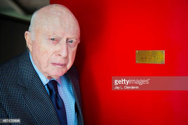 Actor producer and director Norman Lloyd is photographed for Los Angeles Times on March 28 2014 in Los Angeles California PUBLISHED IMAGE CREDIT MUST...