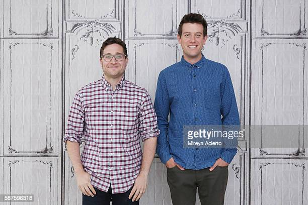 Actor/ producer Josh Horowitz and entertainment reporter/sports commentator Ben Lyons discuss their new project called 'Junketeers' at AOL HQ on...