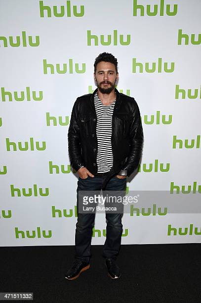 Actor producer of Hulu Original 11/22/63 James Franco attends the 2015 Hulu Upfront Presentation at Hammerstein Ballroom on April 29 2015 in New York...