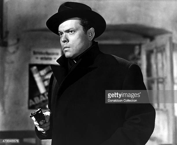 Actor producer writer and director Orson Welles in a scene from the British Lion Films 'The Third Man' in 1949