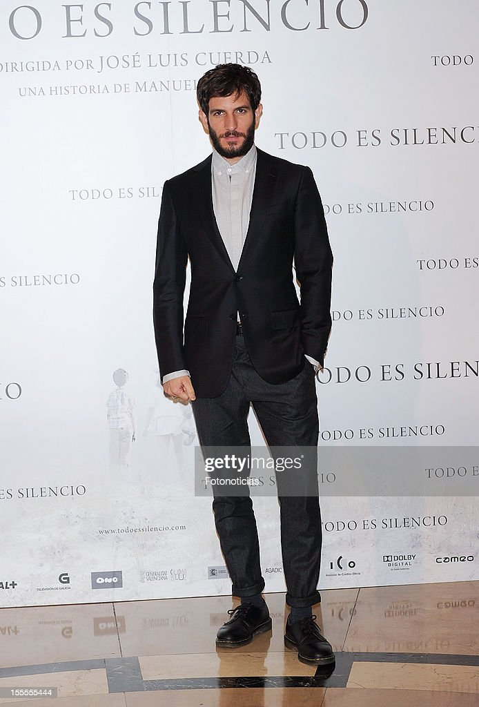 Actor Quim Gutierrez attends a photocall for 'Todo Es Silencio' at the Palafox cinema on November 5, 2012 in Madrid, Spain.