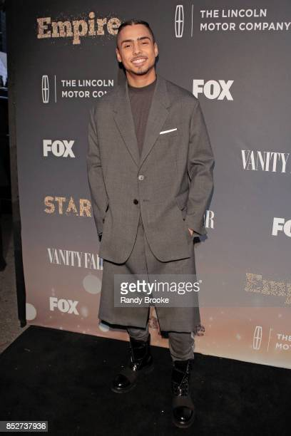 Actor Quincy Brown poses on the red carpet during the 'Empire' 'Star' Celebrate FOX's New Wednesday Night at One World Observatory on September 23...