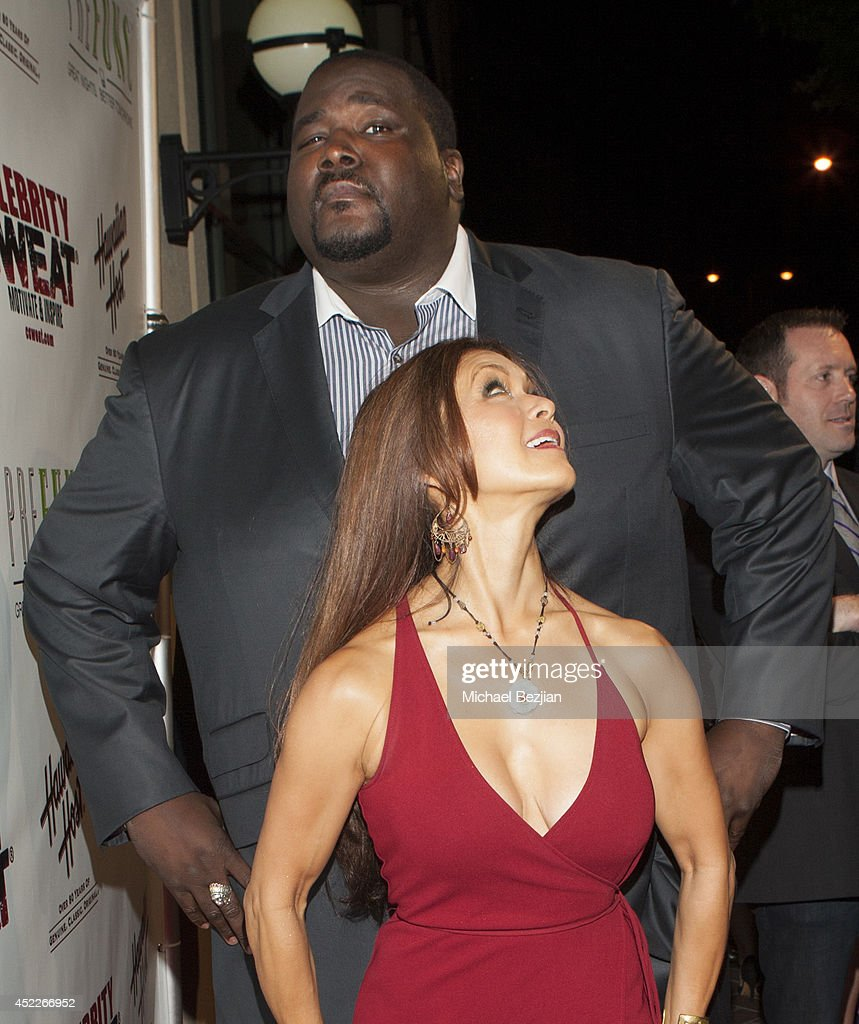 Actor <a gi-track='captionPersonalityLinkClicked' href=/galleries/search?phrase=Quinton+Aaron&family=editorial&specificpeople=6527390 ng-click='$event.stopPropagation()'>Quinton Aaron</a> and singer <a gi-track='captionPersonalityLinkClicked' href=/galleries/search?phrase=Nia+Peeples&family=editorial&specificpeople=635440 ng-click='$event.stopPropagation()'>Nia Peeples</a> attend PREFUNC At The Celebrity Sweat VIP Party at The Palm on July 16, 2014 in Los Angeles, California.