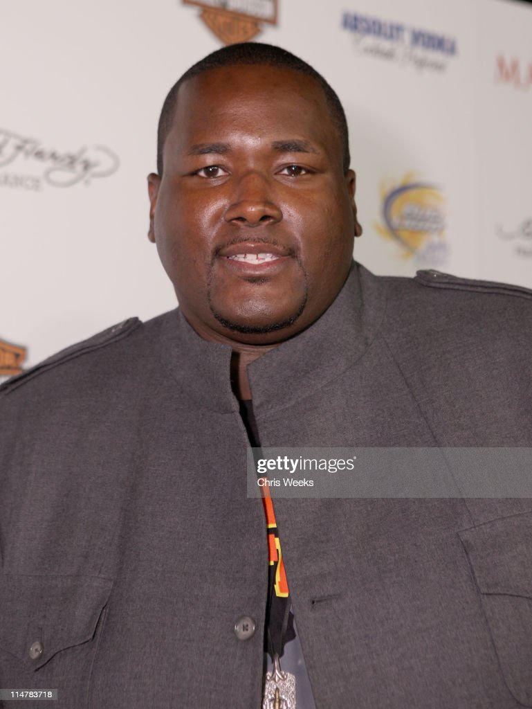 Actor <a gi-track='captionPersonalityLinkClicked' href=/galleries/search?phrase=Quinton+Aaron&family=editorial&specificpeople=6527390 ng-click='$event.stopPropagation()'>Quinton Aaron</a> arrives at the 11th annual Maxim Hot 100 Party with Harley-Davidson, ABSOLUT VODKA, Ed Hardy Fragrances, and ROGAINE held at Paramount Studios on May 19, 2010 in Los Angeles, California.