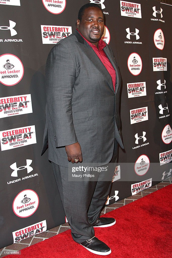 Actor <a gi-track='captionPersonalityLinkClicked' href=/galleries/search?phrase=Quinton+Aaron&family=editorial&specificpeople=6527390 ng-click='$event.stopPropagation()'>Quinton Aaron</a> arrives at the 2013 ESPY Awards - After Party at The Palm on July 17, 2013 in Los Angeles, California.