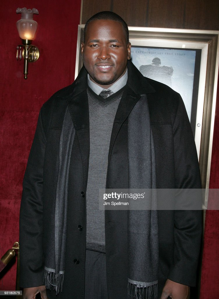 Actor Quinton Aaron attends 'The Blind Side' premiere at the Ziegfeld Theatre on November 17, 2009 in New York City.