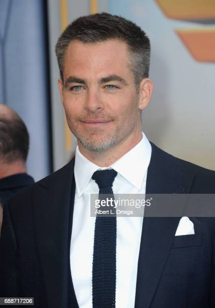 Actor r Chris Pine arrives for the Premiere Of Warner Bros Pictures' 'Wonder Woman' held at the Pantages Theatre on May 25 2017 in Hollywood...