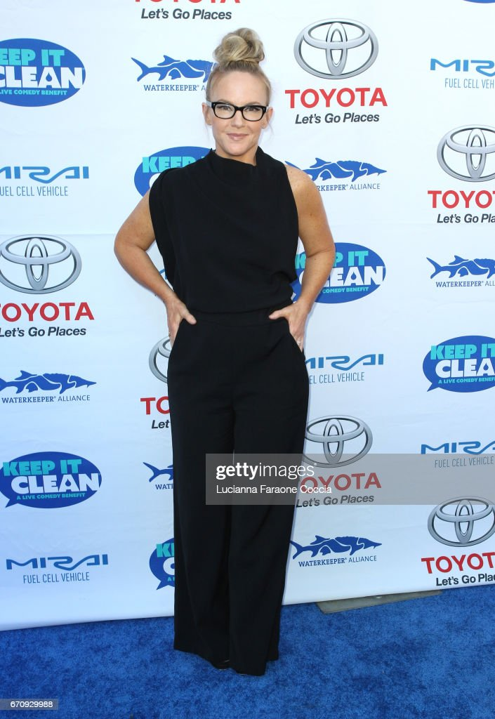 Actor Rachael Harris attends Keep It Clean Live Comedy Benefit for Waterkeeper Alliance at Avalon Hollywood on April 20, 2017 in Los Angeles, California.