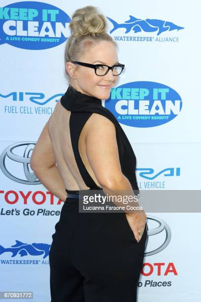Actor Rachael Harris attends Keep It Clean Live Comedy Benefit for Waterkeeper Alliance at Avalon Hollywood on April 20 2017 in Los Angeles California