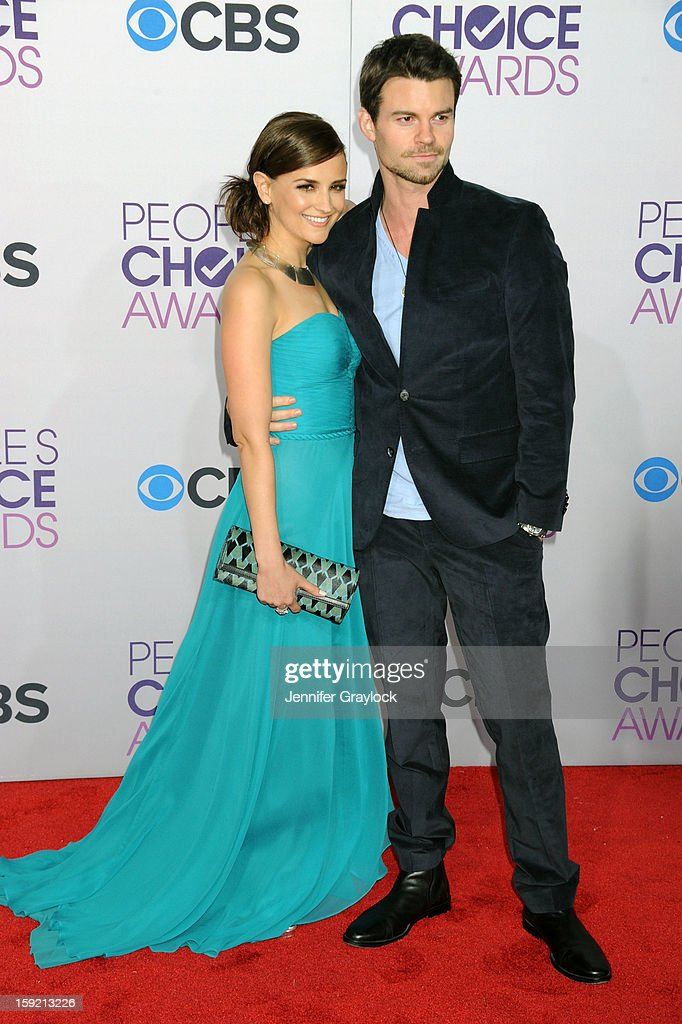 Actor Racheal Leigh Cook and her husband Daniel Gillies attend the 2013 People's Choice Awards Arrivals held at Nokia Theatre L.A. Live on January 9, 2013 in Los Angeles, California.