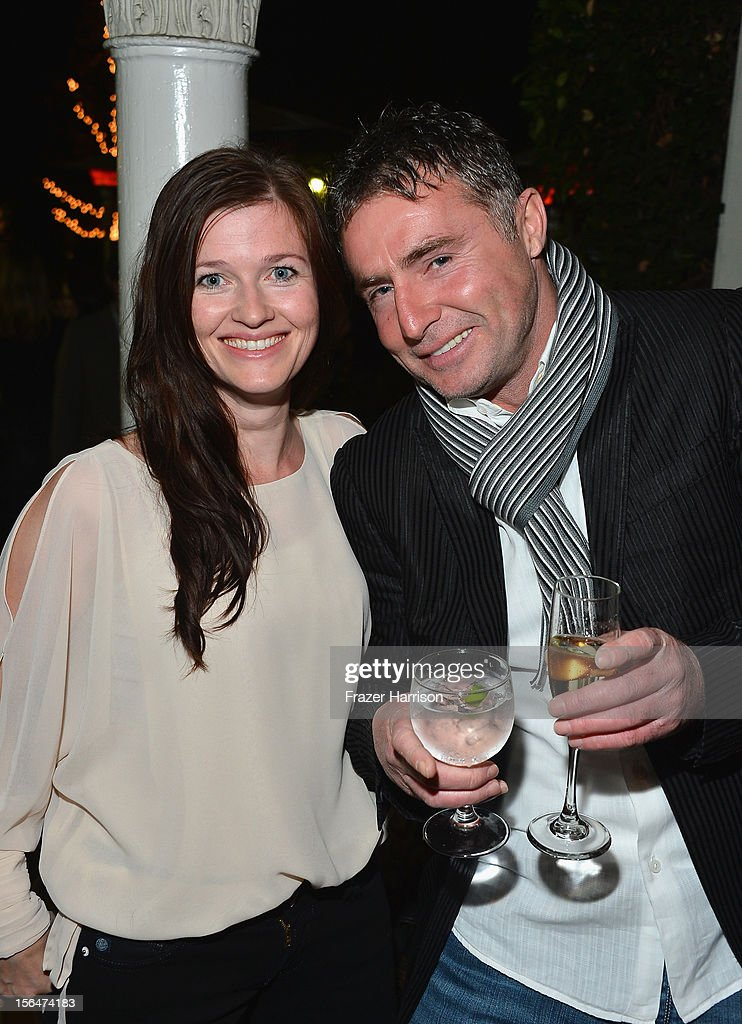 Actor Rachel Rath and actor David O'Hara attend a reception honoring Keira Knightly at British Consulate LA with Focus Features and British Film Commission on November 15, 2012 in Los Angeles, California.