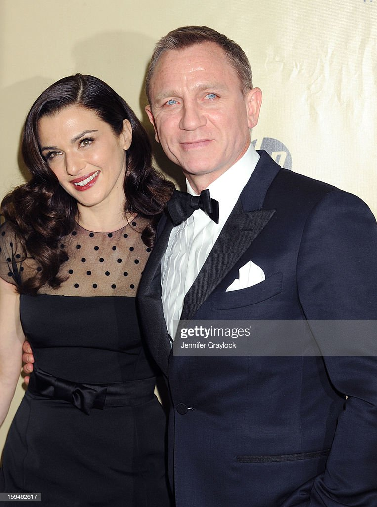 Actor Rachel Weisz and her husband actor Daniel Craig attend The Weinstein Company's 2013 Golden Globes After Party held at The Old Trader Vic's in The Beverly Hilton Hotel on January 13, 2013 in Beverly Hills, California.