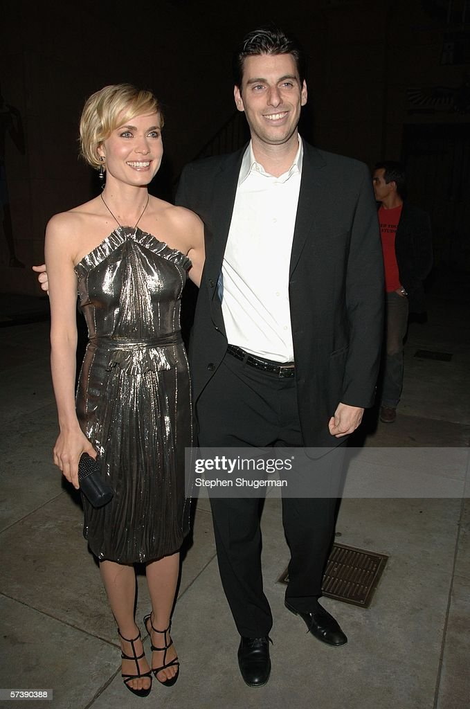 Actor Radha Mitchell and Sony's Marc Weinstock attend the premiere of TriStar Pictures' 'Silent Hill' at the Egyptian Theatre on April 20, 2006 in Hollywood, California.