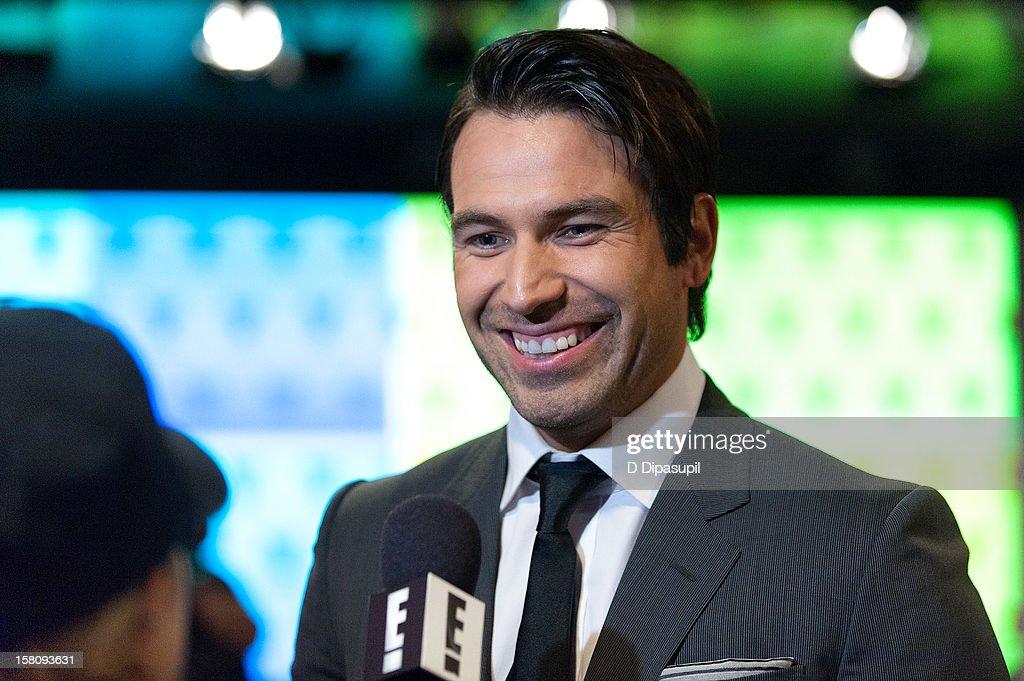 Actor Rafael Amaya attends the NASDAQ Opening Bell Ceremony celebrating Telemundo Media's new brand campaign at NASDAQ MarketSite on December 10, 2012 in New York City.