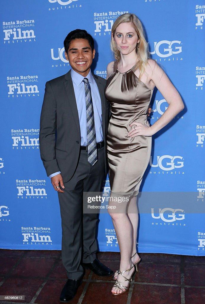 Actor Rafael Martinez and guest attend the premiere screening of 'McFarland USA' at the 30th Santa Barbara International Film Festival at Arlington...