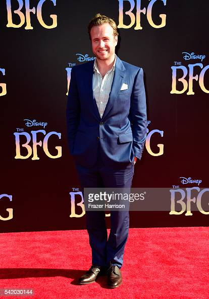 Actor Rafe Spall attends Disney's 'The BFG' premiere at the El Capitan Theatre on June 21 2016 in Hollywood California