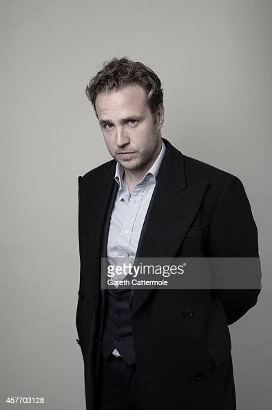 Actor Rafe Spall poses in the portrait studio at the BFI London Film Festival 2014 on October 13 2014 in London England
