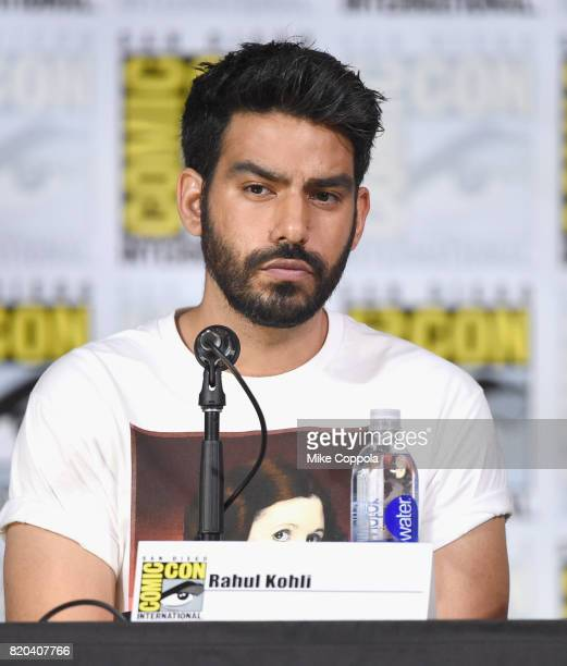 Actor Rahul Kohli speaks onstage at the iZOMBIE special video presentation and QA during ComicCon International 2017 at San Diego Convention Center...