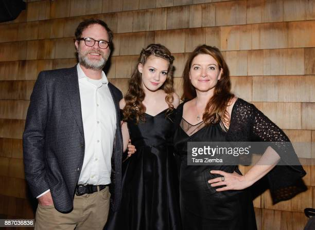 Actor Rainn Wilson actress Kira McLean and writer/director Colette Burson attend the Magnolia Pictures' Los Angeles premiere of 'Permanent' at Wood...