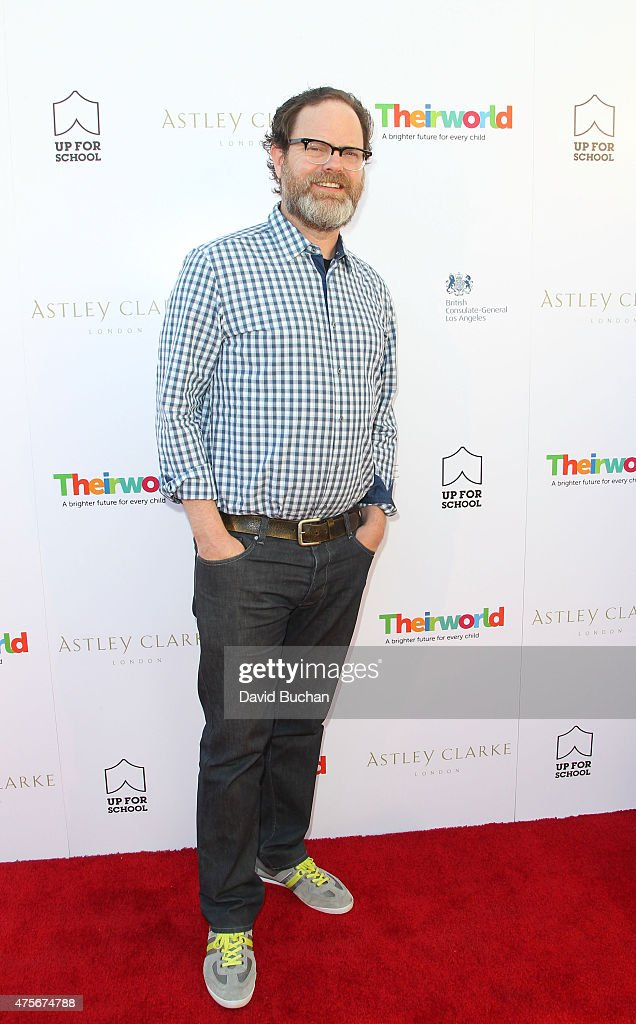 Actor Rainn Wilson attend the Theirworld & Astley Clarke summer reception in celebration of charitable partnership at the private residence of the British Consul General in Los Angeles on June 2, 2015 in Los Angeles, California.