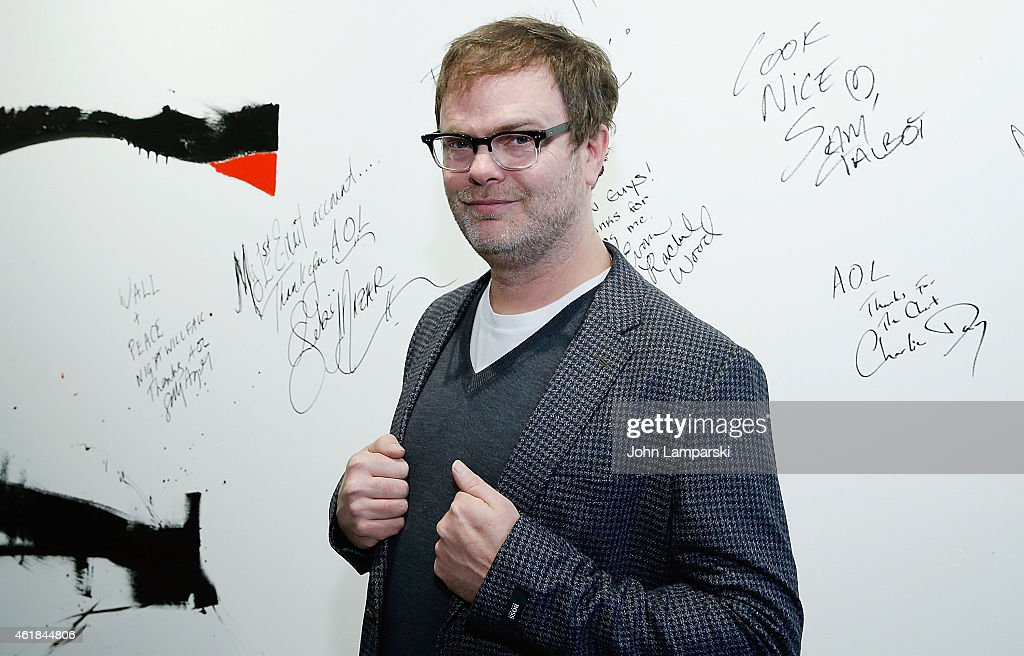 Actor <a gi-track='captionPersonalityLinkClicked' href=/galleries/search?phrase=Rainn+Wilson&family=editorial&specificpeople=534993 ng-click='$event.stopPropagation()'>Rainn Wilson</a> attends AOL Build Speaker Series: <a gi-track='captionPersonalityLinkClicked' href=/galleries/search?phrase=Rainn+Wilson&family=editorial&specificpeople=534993 ng-click='$event.stopPropagation()'>Rainn Wilson</a> at AOL Studios on January 20, 2015 in New York City.