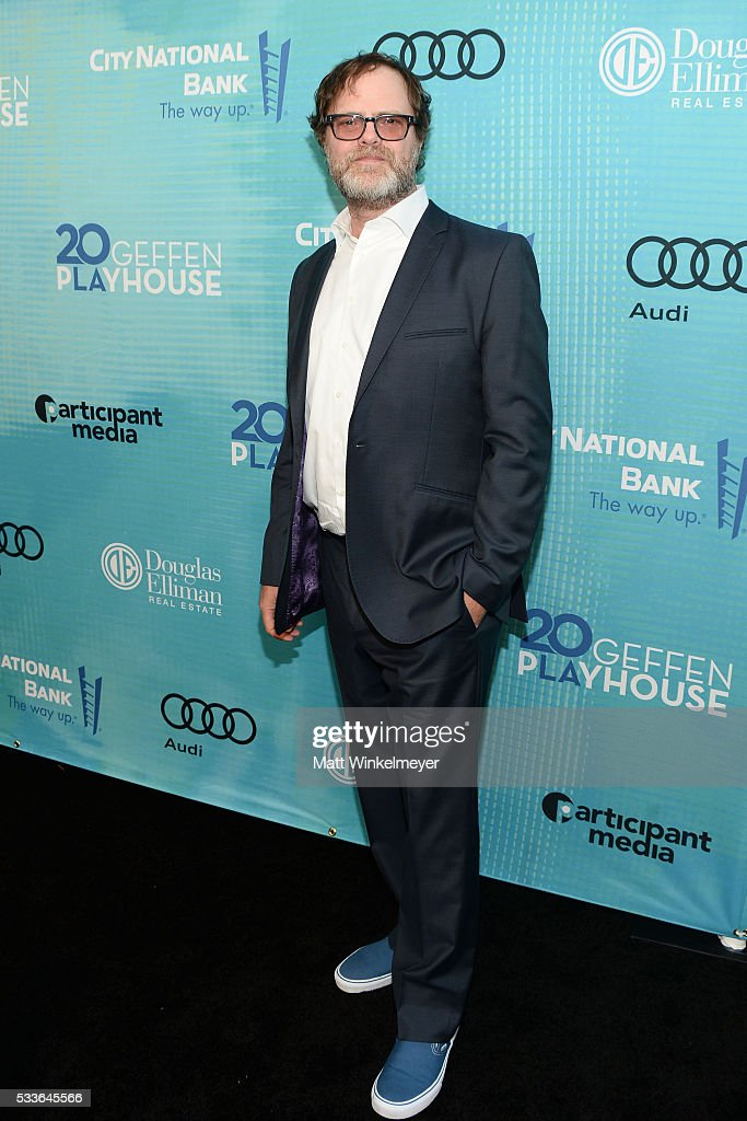 Actor <a gi-track='captionPersonalityLinkClicked' href=/galleries/search?phrase=Rainn+Wilson&family=editorial&specificpeople=534993 ng-click='$event.stopPropagation()'>Rainn Wilson</a> attends Backstage at the Geffen at Geffen Playhouse on May 22, 2016 in Los Angeles, California.